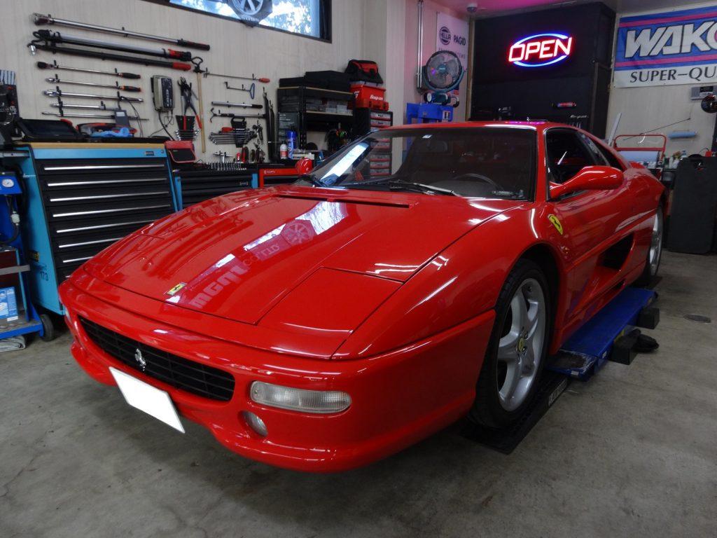 Ferrari F355 車検整備(24ヶ月点検・エンジン各整備)