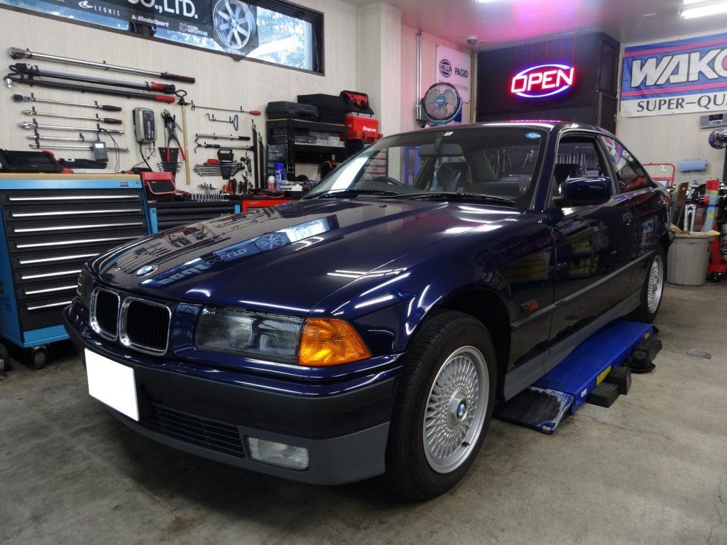 BMW 328iクーペ E36 車検整備(24ヶ月点検・エンジン/足廻り整備)