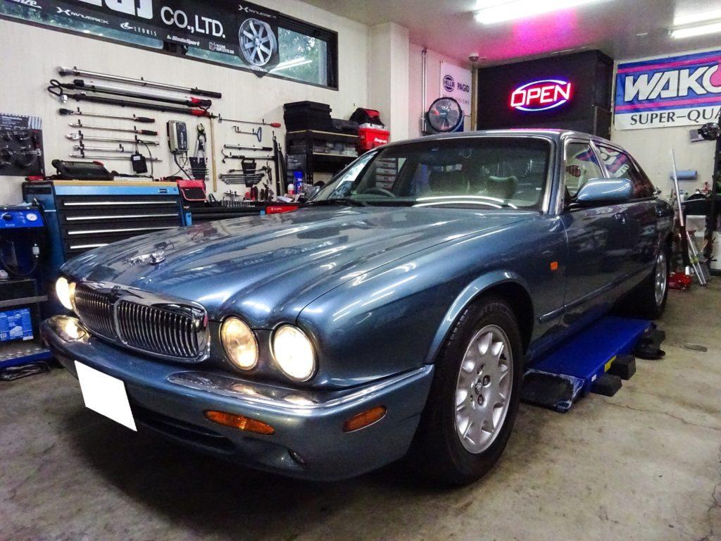 Jaguar XJ sovereign X308 メンテナンス (車検整備・エンジン整備・ブレーキ整備・足廻り整備・ウォッシャー修理)
